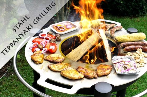 Grillring Teppanyaki Stahl