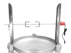 Edelstahl-Grill-Drehspieß elektrisch 6008 DS